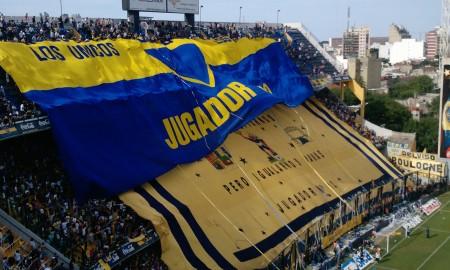 Nahuel Roig - Foto de la hinchada de Boca Juniors.