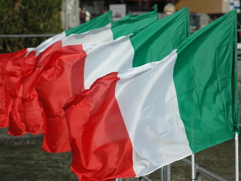 En equipo - Bandera Italiana