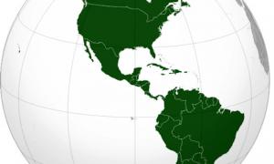 Día de las Américas - Mapa