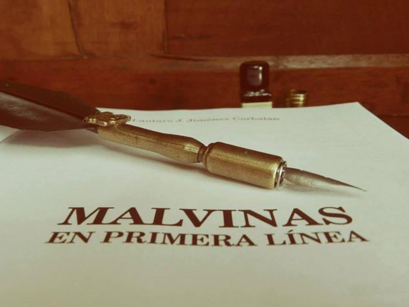Malvinas Portada del libro Malvina en Primera Línea