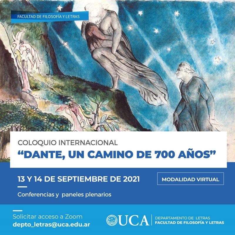 700 años - Dante Flyer Coloquio