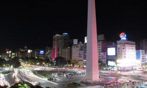 Ciudades - Obelisco De Noche En Buenos Aires.