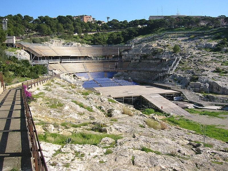 Anfiteatro romano di Cagliari nel 2003