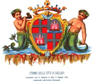 Cagliari Stemma Sabaudo Da L'archivio Comunale Di Cagliari