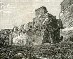 Cagliari Panorama Del Quartiere Di Castello