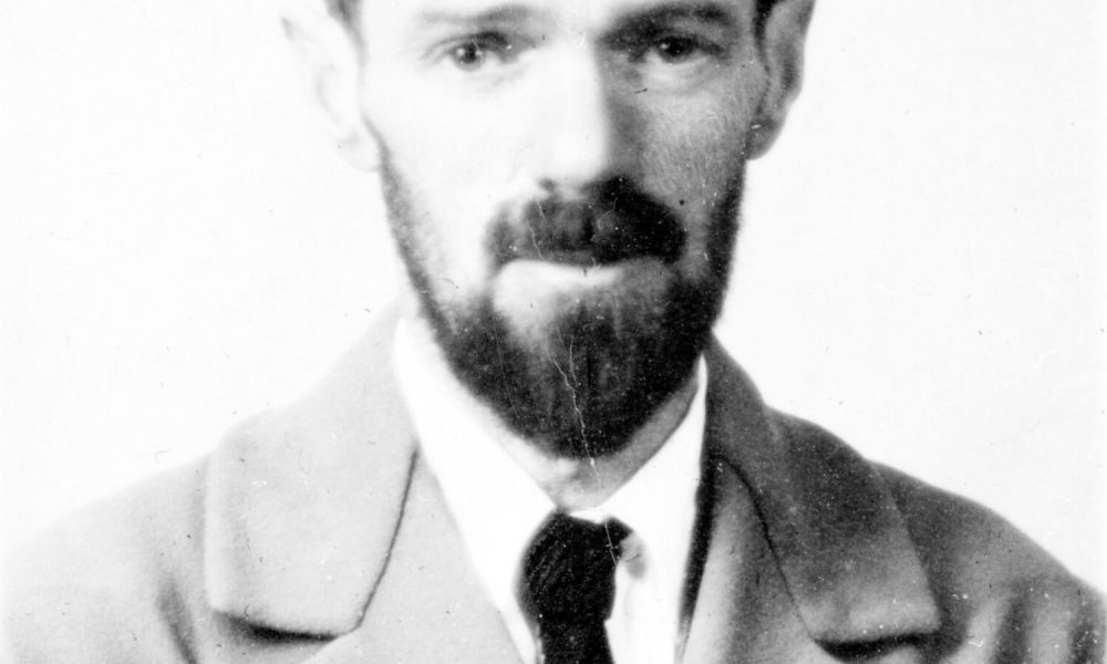 D H Lawrence Passport Photograph