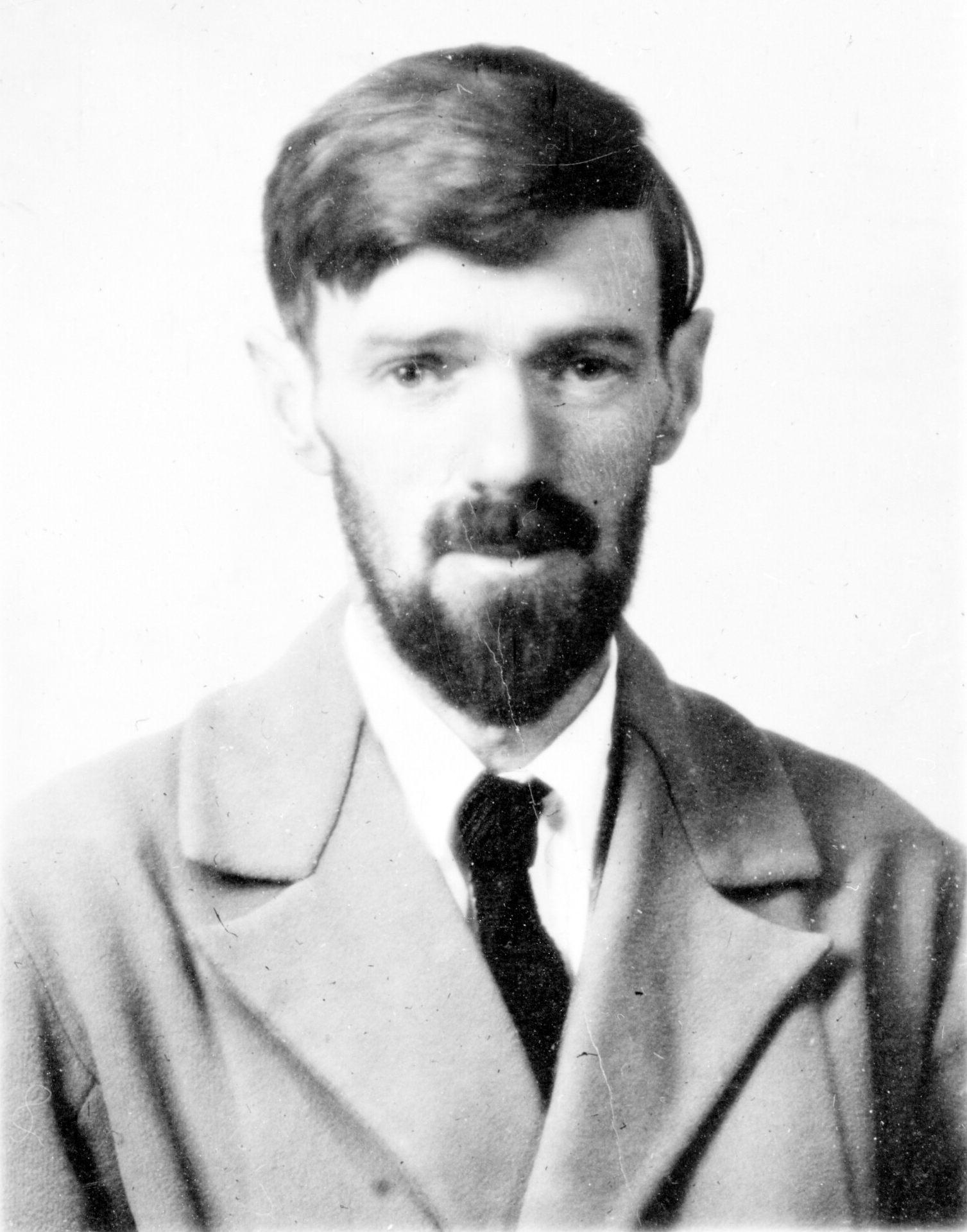 D H Lawrence Passport Photograph