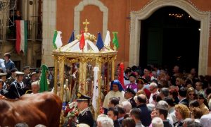 Inizio della processione nella festa di Sant'Efisio