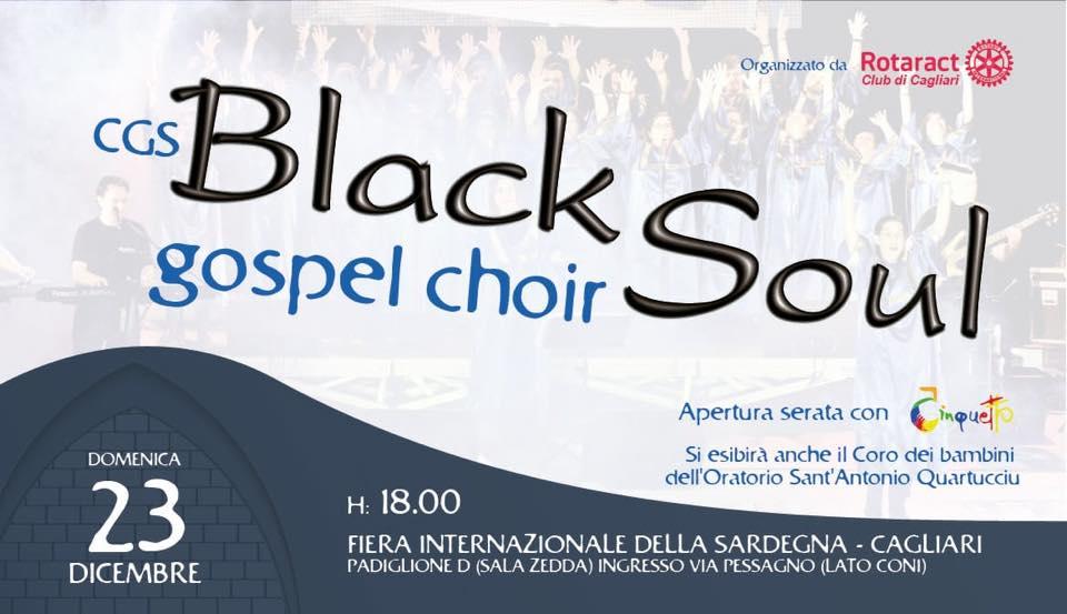locandina concerto gospel per natale a cagliari