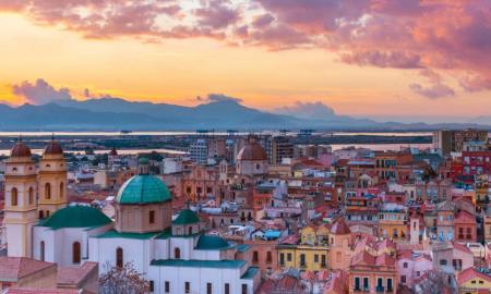 Cagliari al tramonto