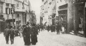Via Manno A Cavallo Tra L'ottocento E Il Novecento