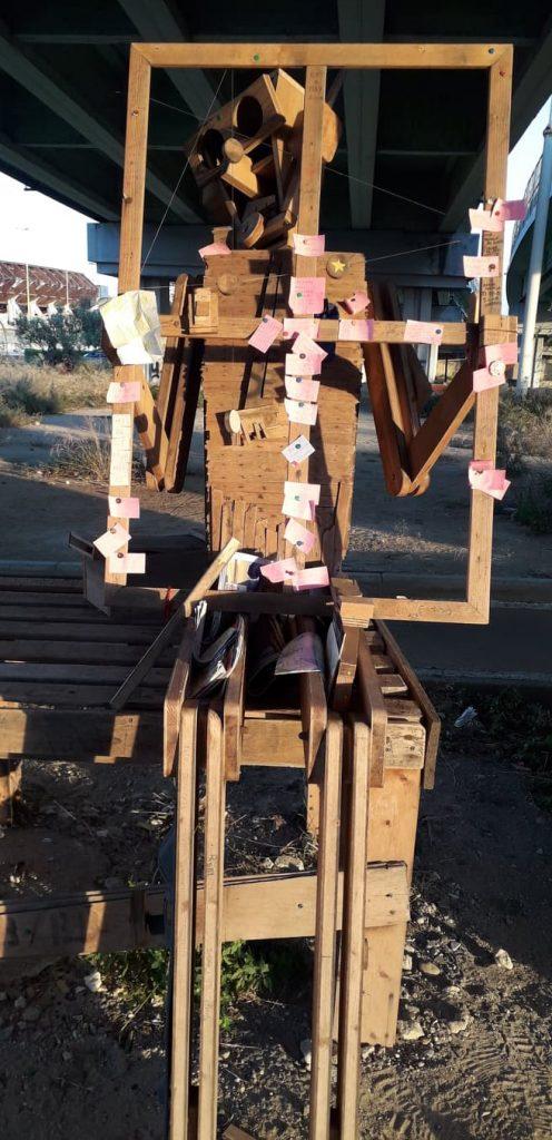 Il robot fi legno a Cagliari