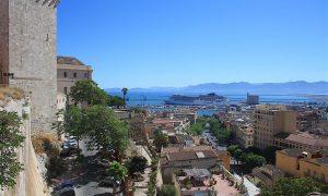 Panorama di Cagliari vista dall'alto
