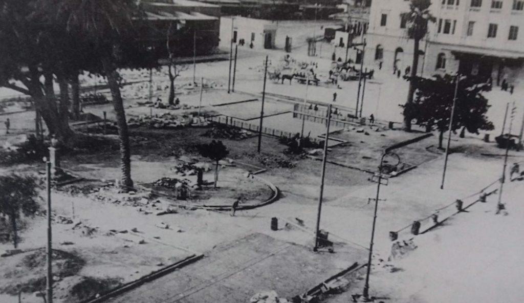 Il Mistero di Piazza Matteotti e Il Verdi 'sbagliato'. La foto ritrae i primi lavori per la costruzione della Piazza.