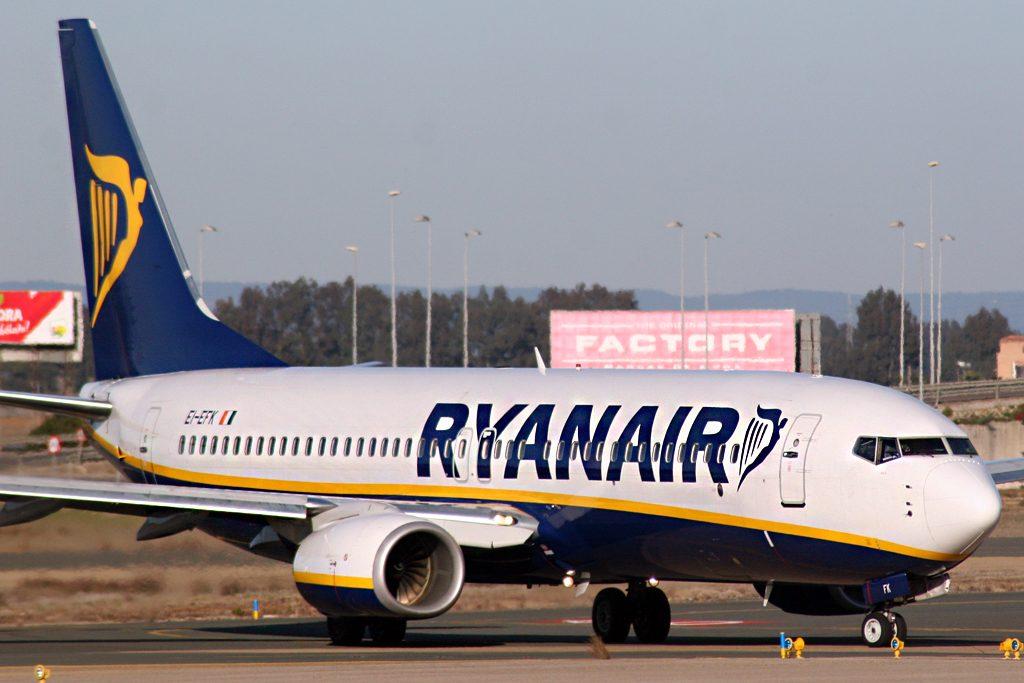 Aereo Ryanair all'Aeroporto di Cagliari