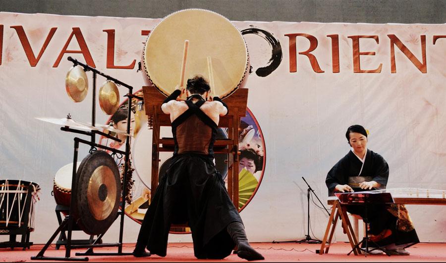 Festival dell'Oriente a Cagliari complesso di Tamburi