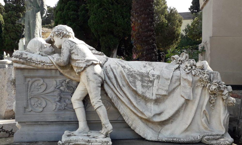 Cimitero di Bonaria, monumento, bimbo, madre