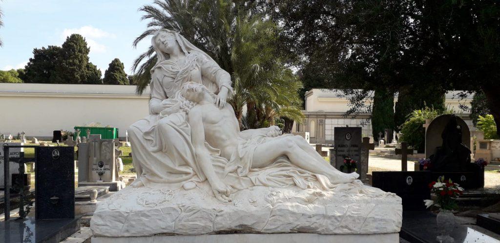 Cimitero Bonaria, monumento, albero, cappella