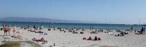 Poetto, spiaggia, mare, persone