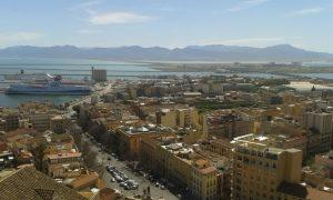 Torre dell'Elefante, panorama, case, nave, mare, strada, automobili