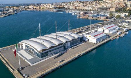 Cagliari Molo Ichnusa Base Luna Rossa vista dall'alto