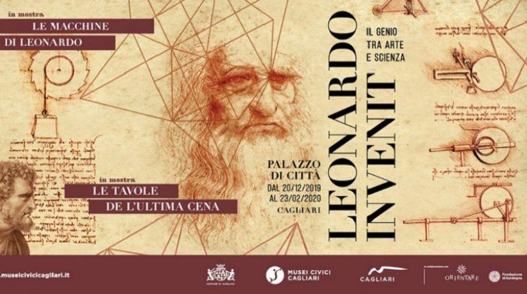 Manifesto Mostra su Leonardo da Vinci