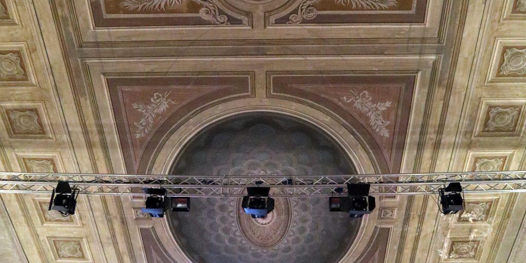 Dettaglio decorazioni Teatro delle Saline