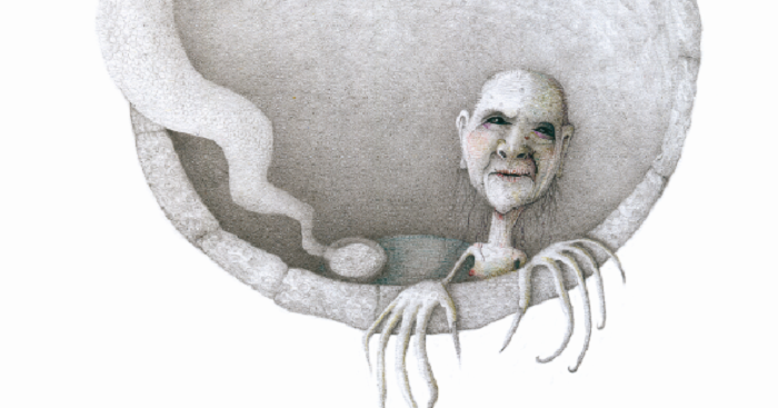 Maria Farranca, disegno donna mostruosa in bianco e nero. Mario Onnis blogspot Image