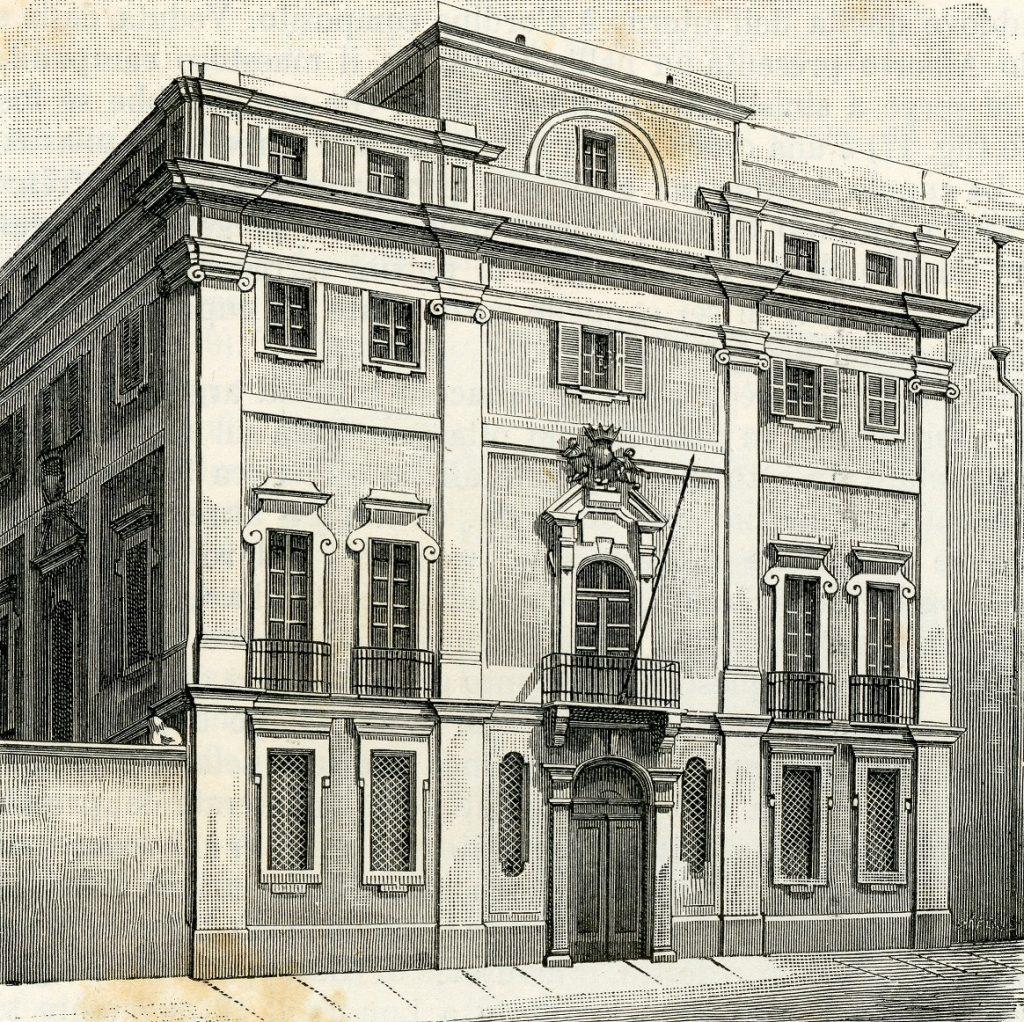 Xilografia dell'Antico Palazzo di Città