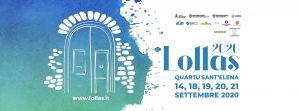 Lollas 2020 locandina con un portale su sfondo azzurro e le indicazioni dell'evento