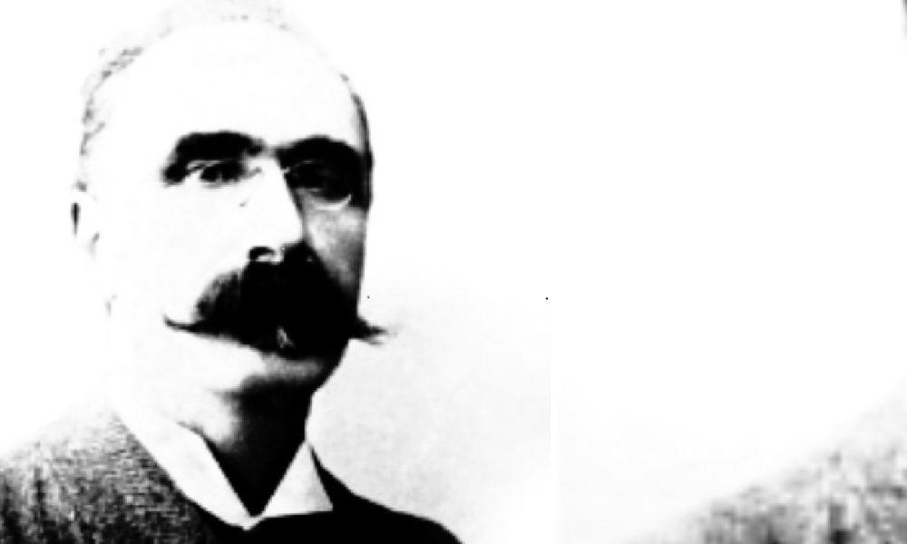 primo piano di foto in bianco e nero che rappresenta unomo con i baffi Ottone Bacaredda