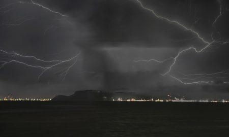 Fulmini Sul Golfo Di Cagliari
