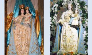 La Madonna del monte Restaurata E Non Restaurata