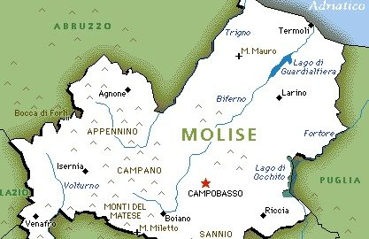 Cartina Molise