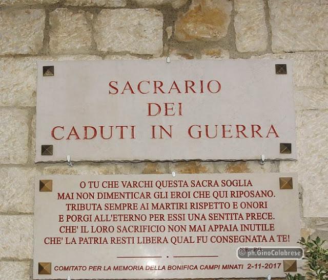 Sacrario - Lapide Sacrario