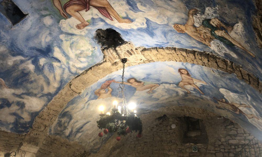 il soffitto di una sala di Monticelli