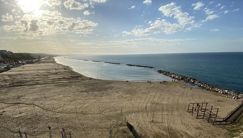 Spiaggia della costa molisana di Termoli