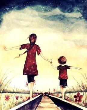 Mamma e figlio nel cammino della vita