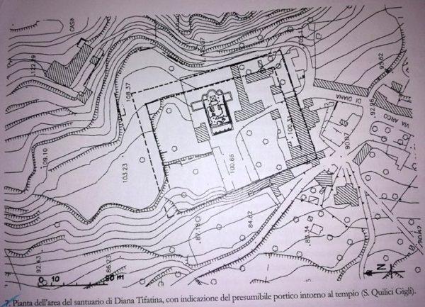 Lo studioso Quilici Gigli ha effettuato una ricostruzione del tempio di Diana Tifatina di Sant'Angelo in Formis.
