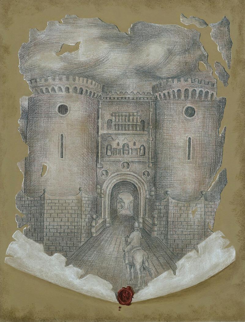 La pittrice Ilaria Caputo ha realizzato un dipinto riproducente la Porta di Capua.