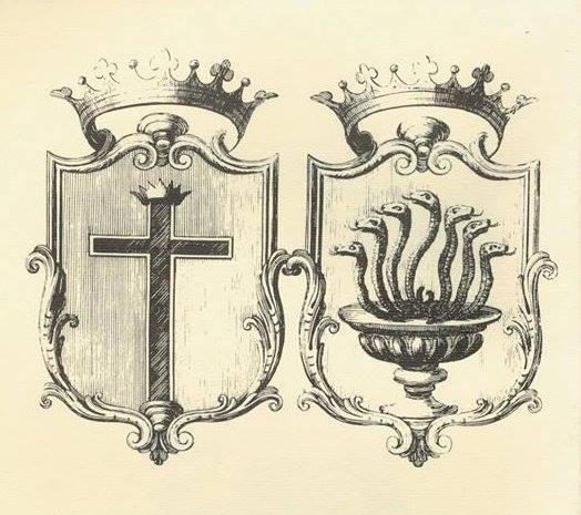 I due scudi dello stemma della città di Capua.