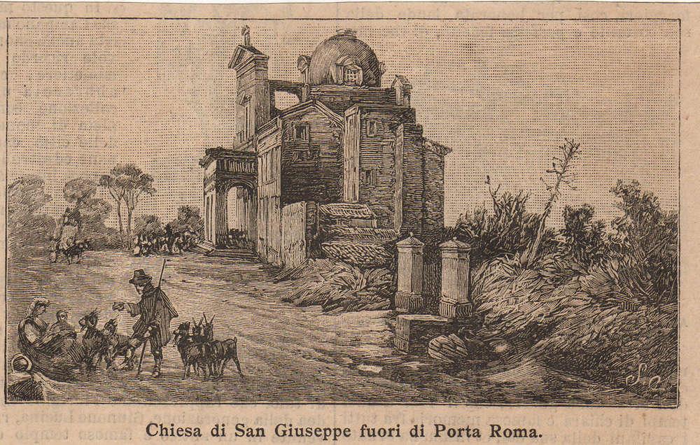 La Chiesa di San Giuseppe e l'area dove tradizionalmente si svolge la Fiera di Santo Stefano.