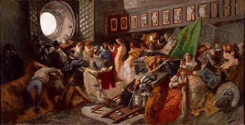 Il dipinto del Sacco Di Capua Di Previati