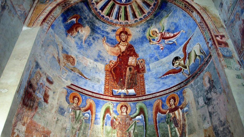 abbazia benedettina di Sant'Angelo in Formis - Affreschi Dell'abside
