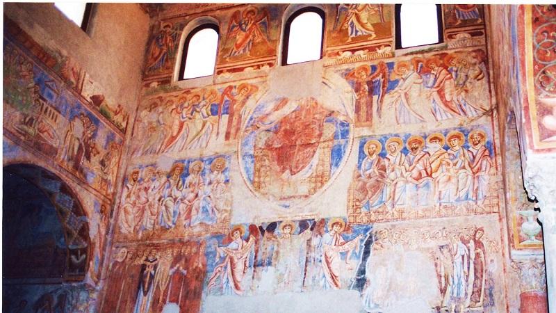 abbazia benedettina di Sant'Angelo in Formis - Particolare Dei Dipinti Delle Navate