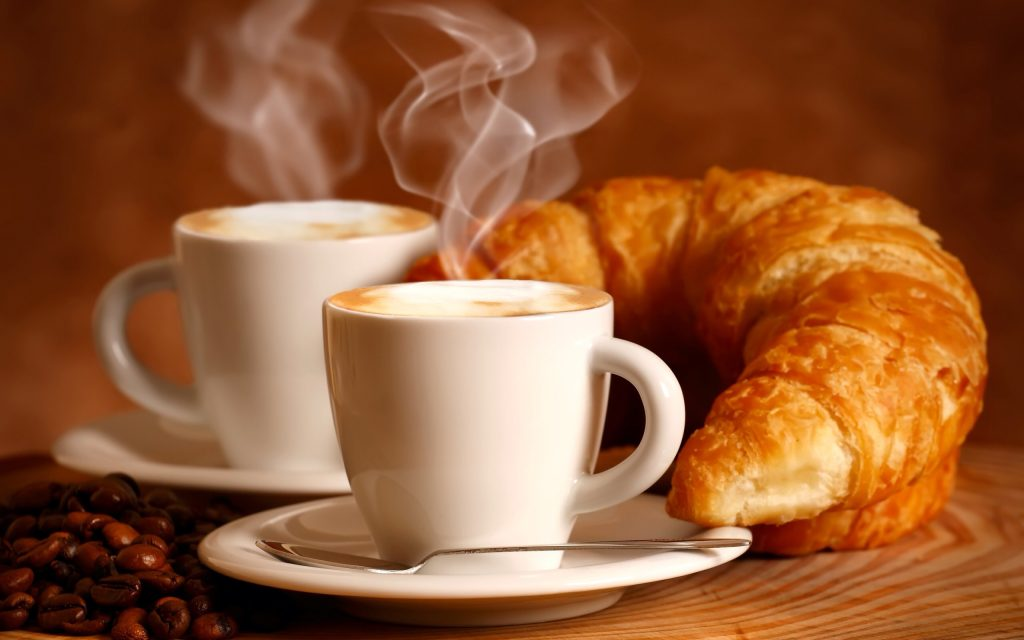 Caffè - cornetto e cappuccino