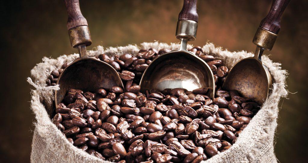 Caffè - alcuni chicchi
