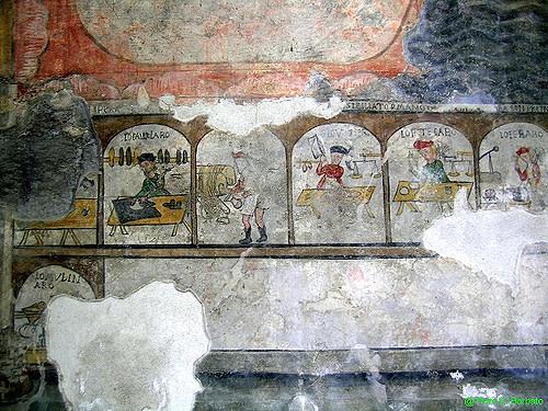 Riquadri raffiguranti i mestieri dell'epoca