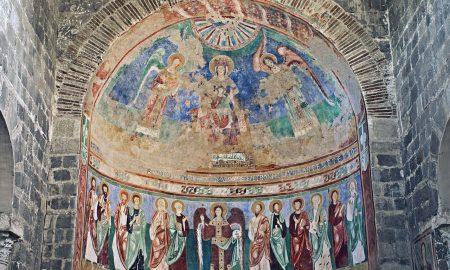 Affreschi all'interno della basilica