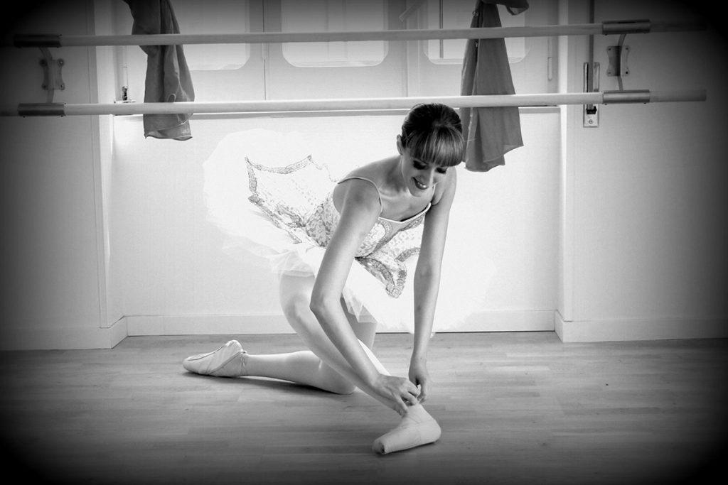 Magda Diodato nella scuola di danza a Caserta